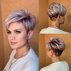 Short Grey Hair, Short Hair With Layers, Short Hair Cuts For Women, Short Hairstyles For Women, Short Sassy Haircuts, Short Haircut Styles, Crop Hair, Haircut For Thick Hair, Haircut For Older Women