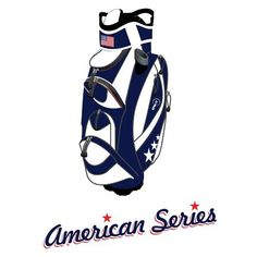 """Spin It Golf Products American Series """"Easy Play"""" Golf Cart Bag, Blue/White"""