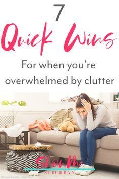 Clutter can be overwhelming. These 7 decluttering quick wins helped me overcome the stress of all the clutter. The simple tips made me feel less overwhelmed. These fast decluttering projects are perfect for a working woman or for moms! Refrigerator Organization, Closet Organization, Kitchen Organization, Organizing, Organized Bedroom, Organized Kitchen, How To Organize Your Closet, Declutter Your Home, Clutter Solutions