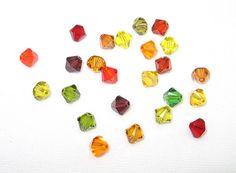 Autumn Glory 6mm Swarovski Crystal Mix by BlueThistleDesigns