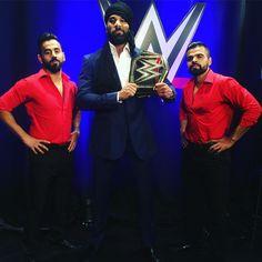 WWE Champion Jinder Mahal and the Singh Brothers Jinder Mahal, Wwe Champions, Wwe Superstars, Champs, Wrestling, Wwe Stuff, Sports, Boxing, Mma