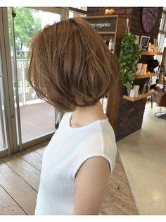 Pin on パーマ Easy Hair Cuts, Medium Hair Cuts, Medium Hair Styles, Curly Hair Styles, Girls Short Haircuts, Cute Hairstyles For Short Hair, Permed Hairstyles, Short Wavey Hair, Asian Short Hair
