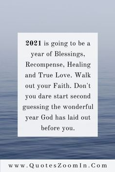 2021 is going to be a year of Blessings, Recompense, Healing, and True Love. Walk out your Faith. Don