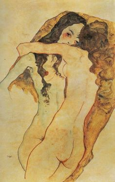 Egon Schiele, Two Women Embracing, 1911.Egon Schiele - 🐞🐛🐞🐞More Pins Like This At FOSTERGINGER @ Pinterest🐞🐞🐞🐛