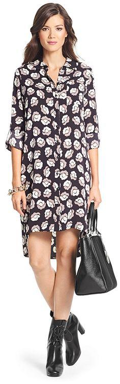 Diane von Furstenberg Prita Silk Shirt Dress on shopstyle.com