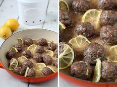 The Food Lovers' Primal Palate: Lemon Lamb Meatballs with Garlic and Thyme Primal Recipes, Lamb Recipes, Real Food Recipes, Cooking Recipes, Paleo Food, Meat Recipes, Delicious Recipes, Free Recipes, Tasty