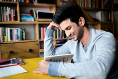 Sushant Singh Rajput's home in Mumbai is a combination of robust colours and rugged finishes. Get a sneak-peek into Bollywood Celebrity Sushant Singh Rajput's chic, urban Mumbai home Photo Poses For Boy, Poses For Men, Handsome Actors, Cute Actors, Bollywood Actors, Bollywood Celebrities, Bollywood Pictures, Indian Star, Actor Picture