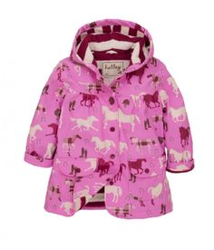 Hatley Pretty Plaid Horses raincoat.  Cheer up those rainy days, and keep your little ones warm and dry in this waterproof Pretty Plaid Horses raincoat by Hatley.  It has an all over pretty horses print.  £28.99