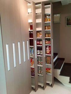 Kitchen Cabinets Decor, Home Decor Kitchen, Kitchen Interior, Interior Design Living Room, Cupboard Design, Pantry Design, Kitchen Design, Diy Kitchen Storage, Closet Designs