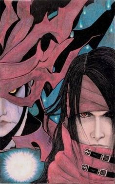 Chaos and Vincent Valentine. Fan art. Final Fantasy VII: Dirge Of Cerberus.