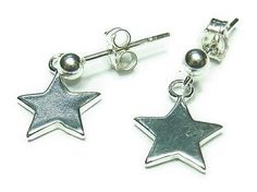 Sterling silver star earrings