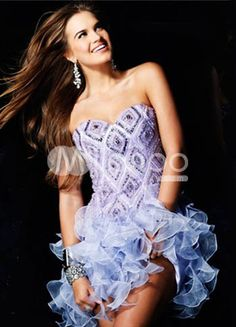 Glamorous Lavender Sweetheart Neckline Tulle A-line Womens Homecoming Dress
