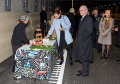 Queens & Princesses - King Carl Gustav and Princess Victoria attended the inauguration of a road tunnel for fludifier traffic around Stockholm.