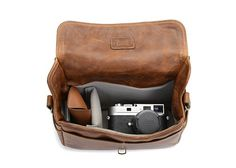 The Leather Bowery Camera Bag and Insert $239
