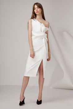 5c974874e3e Shop the Retrograde Midi Dress Ivory from COVET
