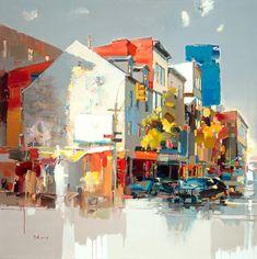 """""""Springtime in Soho"""" by Josef Kote size 40x40"""