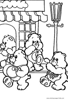Care Bears coloring for kids