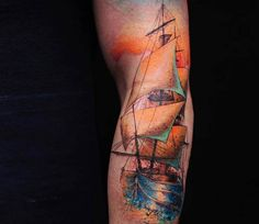 Ship tattoo by Versus Ink
