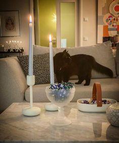 Millainen mökki? - Valkoinen Harmaja Birthday Candles