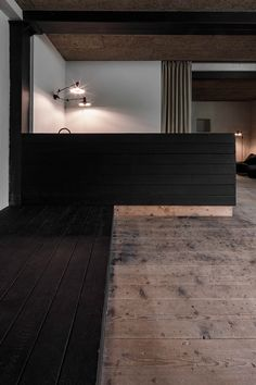 destilat designs lounge in the former workshop of a historical Alpine chaletThe premise for this concept was a respectful approach towards the. Lounge Design, Old Wooden Chairs, Chalet Design, Wood Architecture, Design Studio, Wooden Flooring, Black Wood, Kitchen Interior, Colorful Interiors