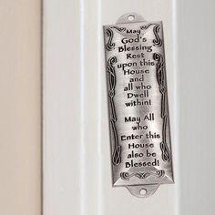 Bless This House Pewter Mezuzah Plaque cellcasesandwigs https://www.amazon.com/dp/B00VZ631BI/ref=cm_sw_r_pi_dp_x_b3LGybKAQS5JE