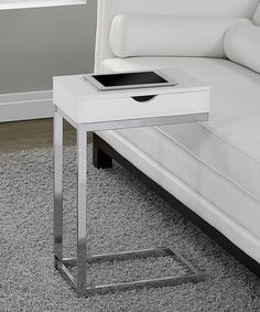 Another great find on #zulily! Glossy White Accent Table #zulilyfinds $70.