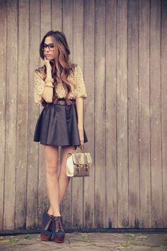 Asos Heels and Bag, Xiquita Bakana Skirt