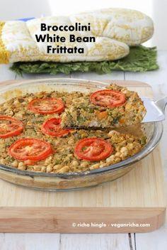 Broccolini White Bean Frittata - Soy free Vegan Frittata. Glutenfree Recipe - Vegan RichaBloglovinFacebookGoogle+InstagramPinterestRSSTwitterYouTube