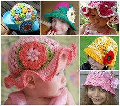 Crochet Sun Hats - FREE Patterns