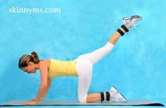 The butt can be one of the most troublesome areas for women so try these 5 easy moves to reshape your butt #skinnyms #fitness