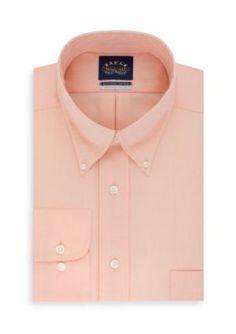 Eagle Orange Non Iron  ular Fit Stretch Collar Solid Dress Shirt