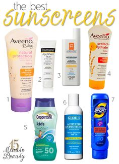 Top 10 Tuesday: The Best Sunscreens for Sunny Summer Days  via @15 Minute Beauty