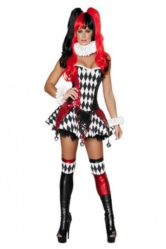 e271945246 3pc Court Jester Cutie Costume. Sexy Adult CostumesClown CostumesHalloween  ...