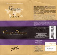 tablette de chocolat noir dégustation pralus noir ghana forastero 75