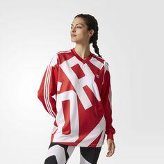 Maglia Bold Age Oversize Track Collegiate Red/White CY7392