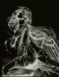 Angel or fairy animated gif Dark Fantasy Art, Dark Art, Angels Among Us, Angels And Demons, Fallen Angels, Guardian Angels, Angel Artwork, Angel Drawing, Angel And Devil