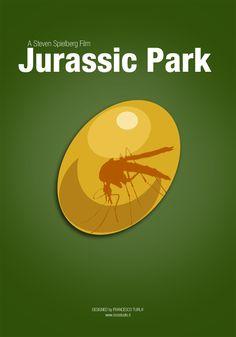 Minimal Jurassic Park Posters | Jurassic Park | Minimal Movie Poster