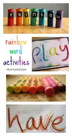 Rainbow themed literacy activities and free printables - part of a complete rainbow-themed unit. Rainbow Activities, Hands On Activities, Literacy Centers, Classroom Activities, Learning Activities, Kids Learning, Teaching Themes, Literacy Games, Rainbow Crafts