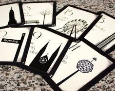 New York Table Decorations | NYC Table Number Wedding Decor New York State Landmarks Table Card ...