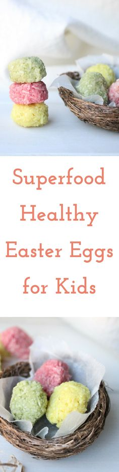 Easter can be a challenging time for parents surrounded by chocolate and sweets. Many of them contain unhealthy food dyes, additives and LOADS of sugar. Bright, cheerful and easily made with your kids using natural superfoods, give the chocolates a miss and include even the littlest of kiddos with this healthy alternative.