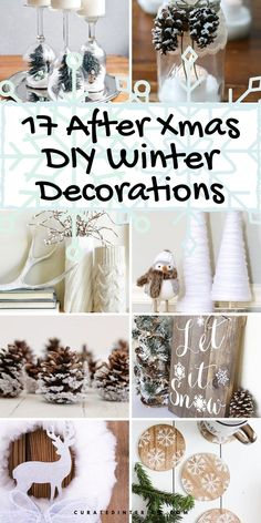 17 DIY Winter Decorations for After-Christmas Decorating