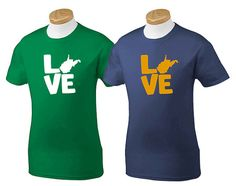 Love My State West Virginia TShirt MADE TO by HandmadeEscapade, $15.00