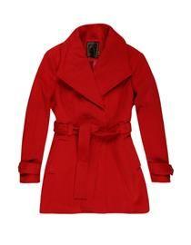 casaco lã Vermelho