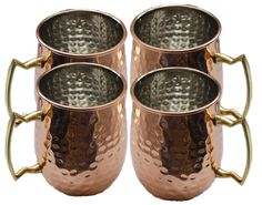 Authentic Hand Hammered Pure Copper Moscow Mule Mug with Nickel Lined 18 OZ(4) #Buddha4all