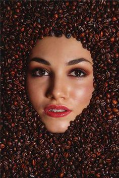 Coffee Love, Coffee Art, Diy Dress, Face Art, Woman Face, Beachwear, Swimwear, The Magicians, Photography Poses