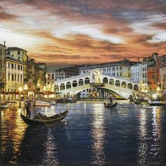 Rialto Bridge Venice by Rod ChaseGiclee on Canvas, Open Edition SignedDimensions: 24 x 24 Also published as:Giclee on Canvas, Open Edition SignedDimensions: 16 x 16$99. Ships rolled As one of today's More