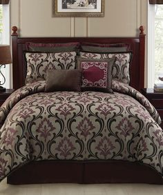 Take a look at this Taupe Winchester Comforter Set on zulily today!
