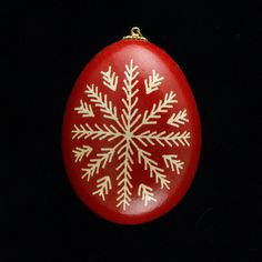 Pysanky Ukrainian Easter Egg Snowflake Hand by JustEggsquisite, $10.00