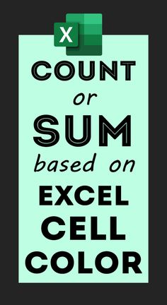 Count + Sum Cells based on Cell Colour in Excel - How To Computer Help, Computer Technology, Computer Programming, Computer Science, Computer Tips, Microsoft Excel Formulas, Excel For Beginners, Microsoft Office Online, Excel Hacks