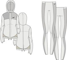 Technical Illustrations, Technical Drawings, Flat Drawings, Flat Sketches, Fashion Templates, Drawing Clothes, Aktiv, Sports Leggings, Fashion Flats